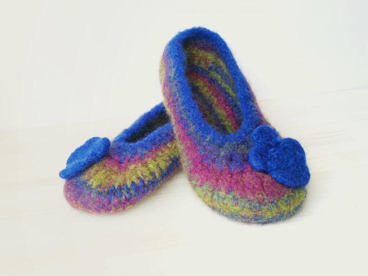 Crocheted Felt-Slippers for Women