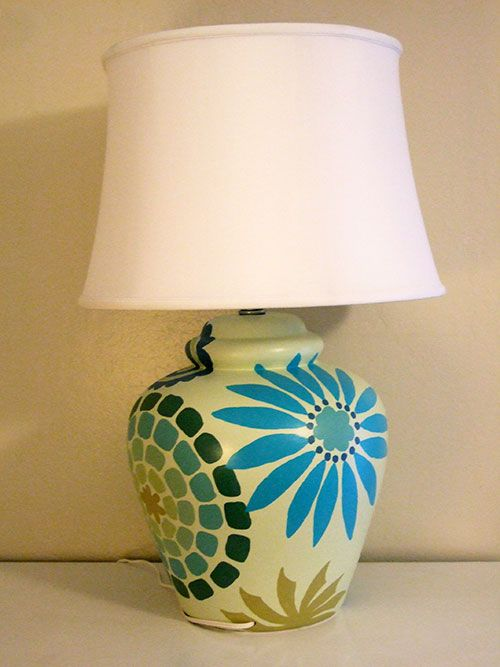 rewired and painted table lamp with finial crafty nest crafts rh pinterest com