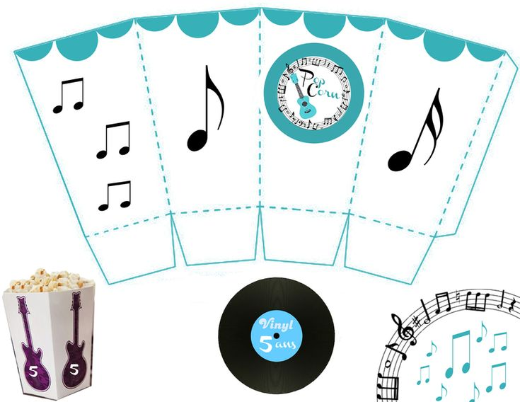 boite pop corn askartelu pinterest musique. Black Bedroom Furniture Sets. Home Design Ideas