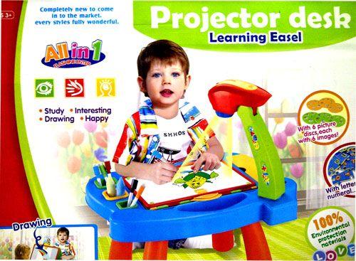 Meja projector learning easel , adalah meja yang di lengkapi dengan white board dan black board untuk menggambar, dilengkapi dengan projector & alat gambar