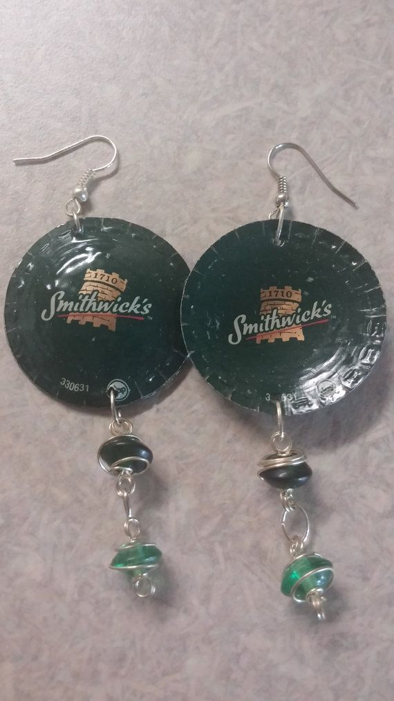 Hey, I found this really awesome #Etsy listing at https://www.etsy.com/listing/239855549/smithwicks-beer-cap-earrings