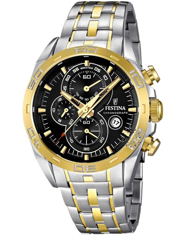 FESTINA Τwo Tone Chrono Stainless Steel Bracelet Τιμή: 264€ http://www.oroloi.gr/product_info.php?products_id=36408