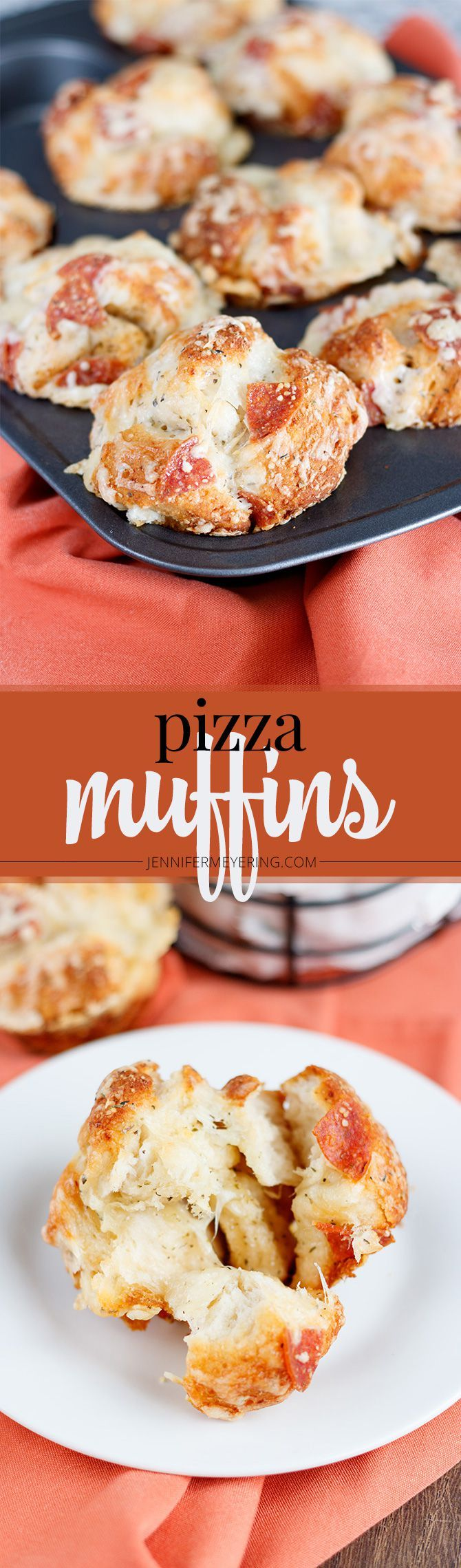 Pizza Muffins - JenniferMeyering.com