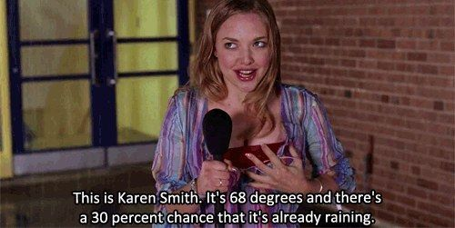 """""""There's a 30% chance that it's already raining."""""""