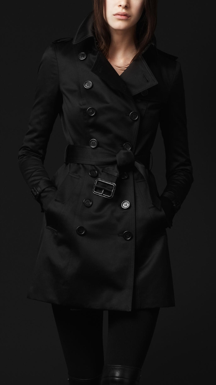 All Black Burberry Trench Coat