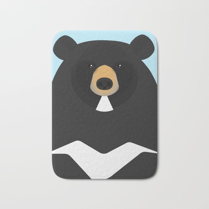 Buy Asian black bear Bath Mat by diloraniumstrolivarius. Worldwide shipping available at Society6.com. Just one of millions of high quality products available.