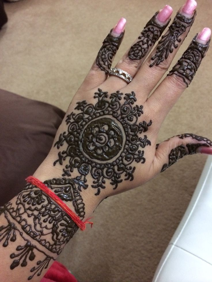 Henna on hands..it's simple.