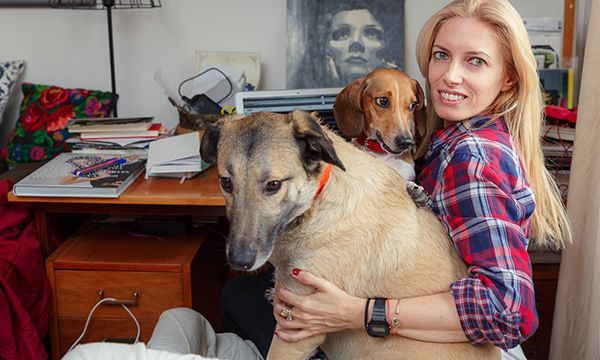 Me and my beloved dogs, Clint & Shlomo captured by talented Catalin Georgescu for my talented friend Sanziana Pop, the owner of www.visuell.ro November 2014, Bucharest