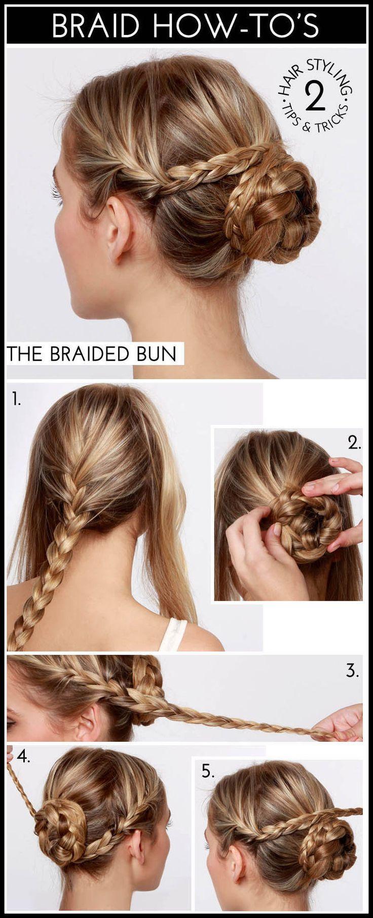 Another #DIY #BraidedBun technique! :) www.studiokairi.com  (source-lulus)
