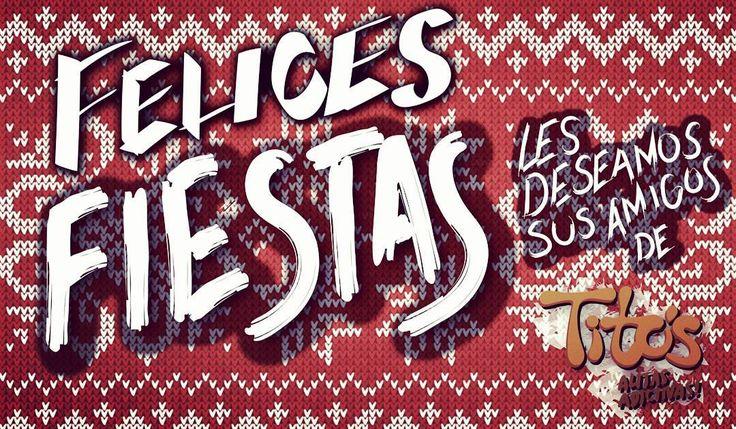 #Navidad2016 Salud Amor y Tito's para todos. #chickenwings  #alitasdepollo #salsapicante #salsaparaalitas #habanero #boneless #chickentenders #papasfritas #quesito #jalapeños #bar #margaritas #clamatos #mtysur #mty #Monterrey #monterreynl #Mexico