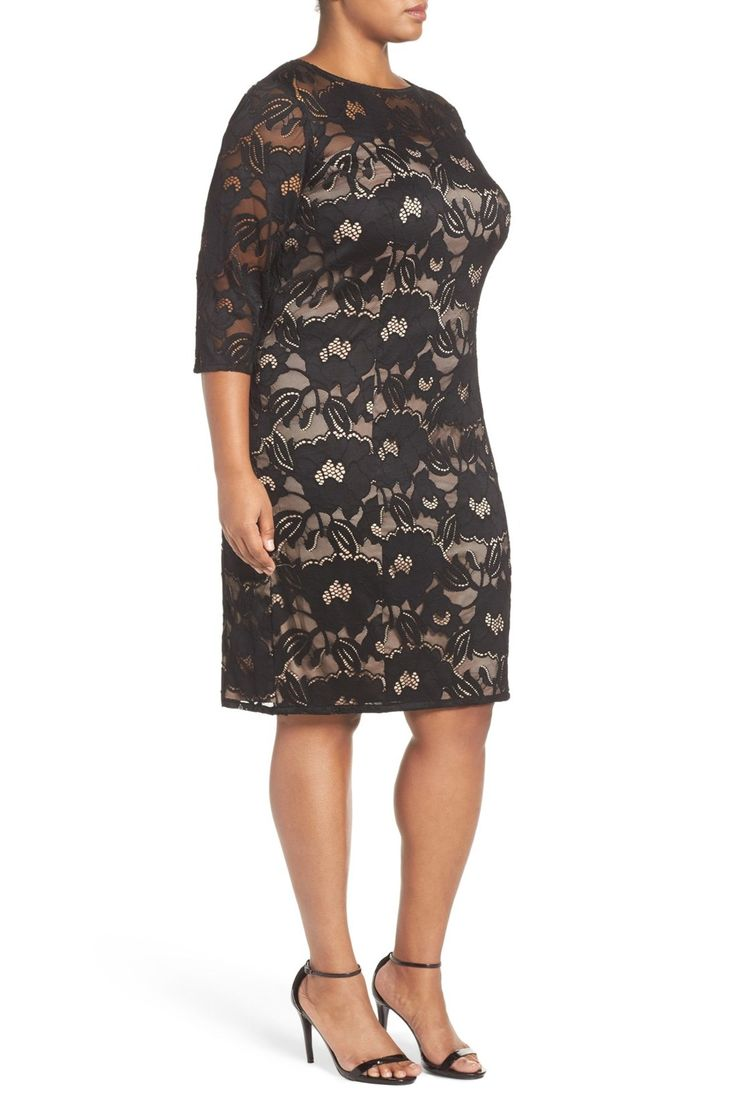 Carol Lace Sheath Dress (Petite & Plus Size)