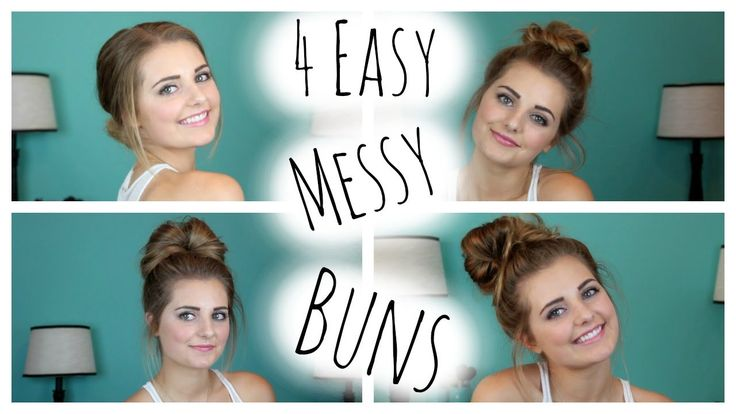 NO HEAT HAIRSTYLES: 4 Easy Messy Buns!  HauteBrilliance love this tutorial!