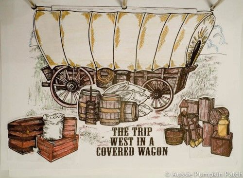 "The Covered Wagon Project in ""Early 19th Century,"" made by Kendra's family!"