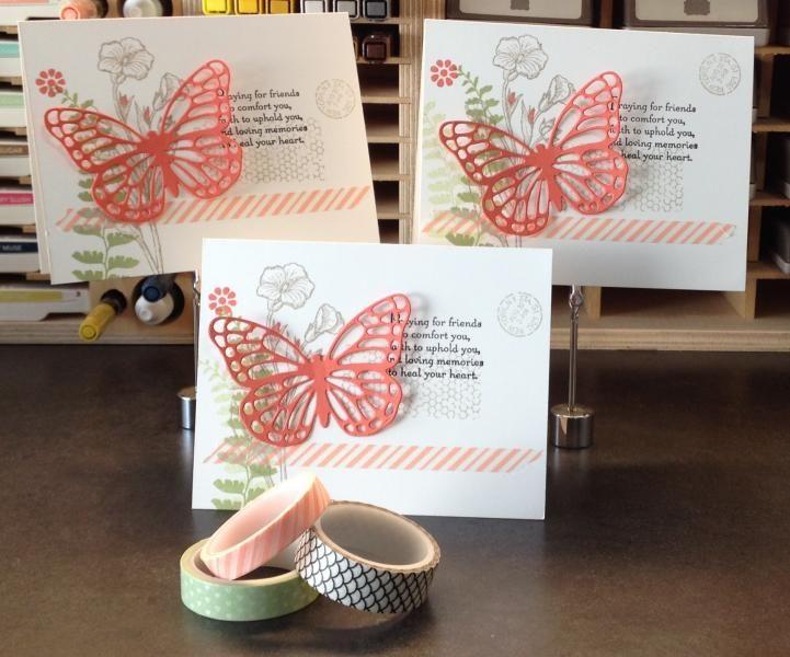 voor elke gelegenheid : gestanste vlinder, wat bloemetjes en een mooie tekst.