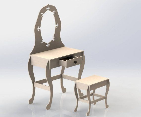 Dressing Table Design DXF File CNC or Laser Cutting ArtCAM Vectric
