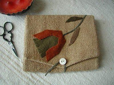 My Wool Flower Needlebook - Outside