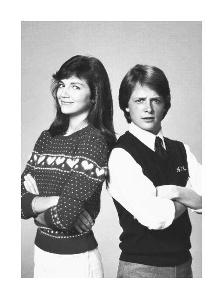 Family Ties, Justine Bateman and Michael J. Fox