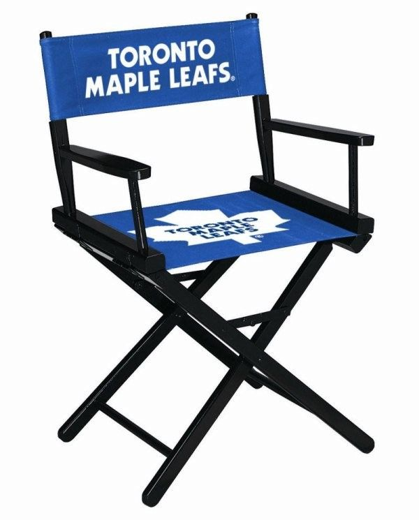 Toronto Maple Leafs NHL Director Chair - 34in Table Height