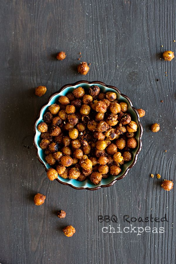 BBQ Roasted Chickpeas Recipe - a great snack from the Seriously Delish Cookbook