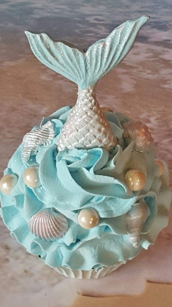 Mermaids Tail Fake Cupcake, Photo Props and Birthday Party Decorations, Displays #FAKECUPCAKECREATIONS