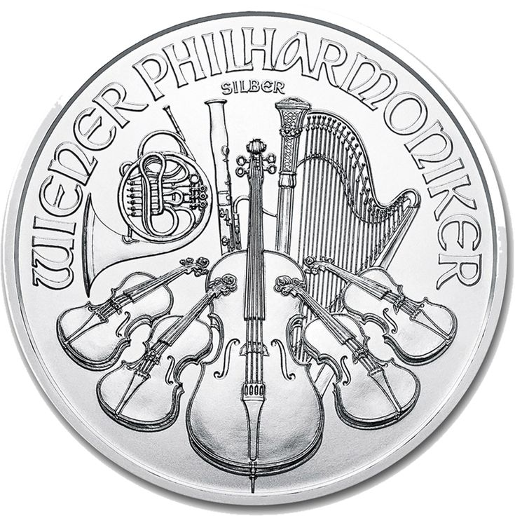 The reverse of the 2018 Austrian Philharmonic 1oz Silver Coin features the classic design of an array of instruments, including the cello, violin, harp, French horn and bassoon, to represent the Vienna Philharmonic Orchestra.  The obverse of the coin bears the portrait of the Great Organ in Vienna's concert hall, Musikverei. It also details the year-date, weight and the monetary denomination of €1.50.