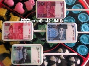 Lolipop Edible Gambar Uang|Coklat Lolipop Edible | Toko Coklat Kita