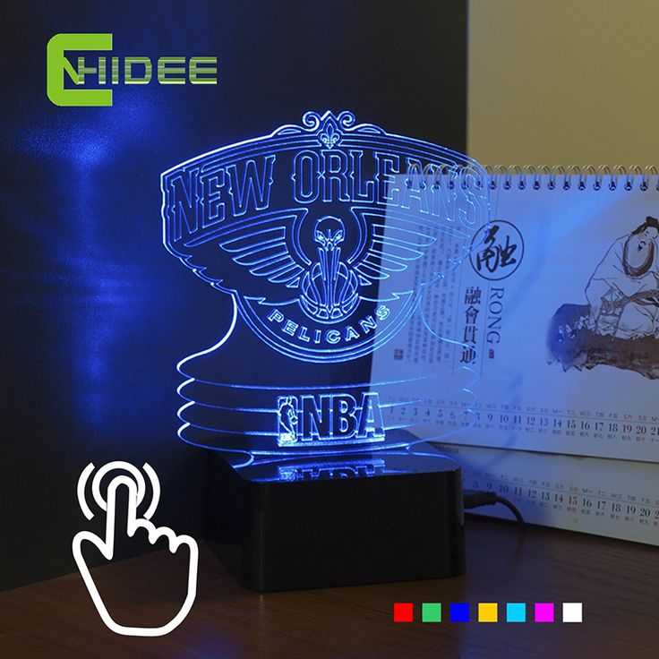 ==> [Free Shipping] Buy Best CNHIDEE USB Novelty Colourful RGB Night Lights Led Touch Table Lamp for Pelican NBA Team Basketball Lampara as Bedroom Decor Online with LOWEST Price | 32591988576