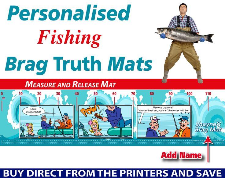 Wholesale Printers,  - Personalised Fishing Mermaid Brag Truth Measure and Release Mat, $19.95 (http://www.wholesaleprinters.com.au/personalised-fishing-mermaid-brag-truth-measure-and-release-mat/)