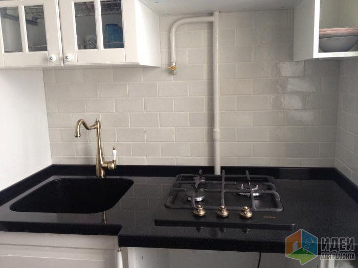 Маленькая кухня планировка, раковина и смеситель, расположение плиты и кухонной мойки