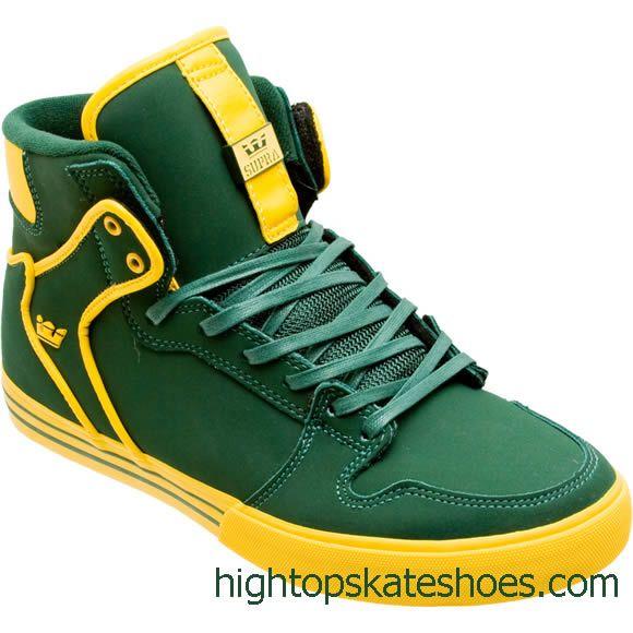 supra skate shoes yellow