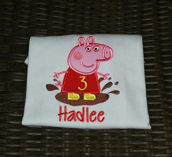 Peppa Pig Birthday Shirt Peppa Pig Shirt by SewManyBlessings14