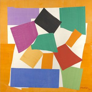 Henri Matisse (1869 -1964)  The Snail,1953  Gouache on paper, cut and pasted on paper mounted to canvas Digital Image: © Tate Artwork: © Succession Henri Matisse/ DACS 2014