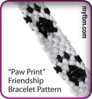 Paw Print friendship bracelet pattern