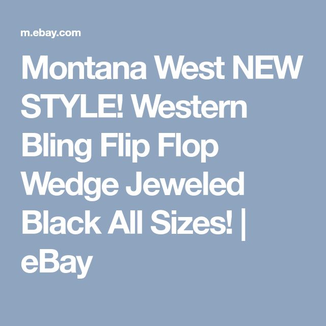 Montana West NEW STYLE! Western Bling Flip Flop Wedge Jeweled Black All Sizes! | eBay