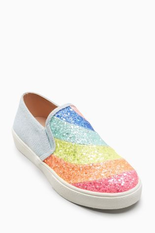 Buy Rainbow Glitter Skater Shoes (Older Girls) from the Next UK online shop