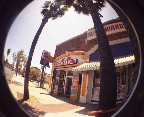 I'll meet you under the kissing palm trees for some donuts and Chinese food.