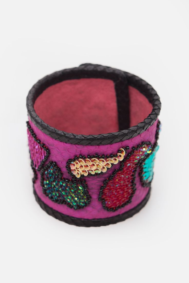 Fuchsia & Black Bracelet