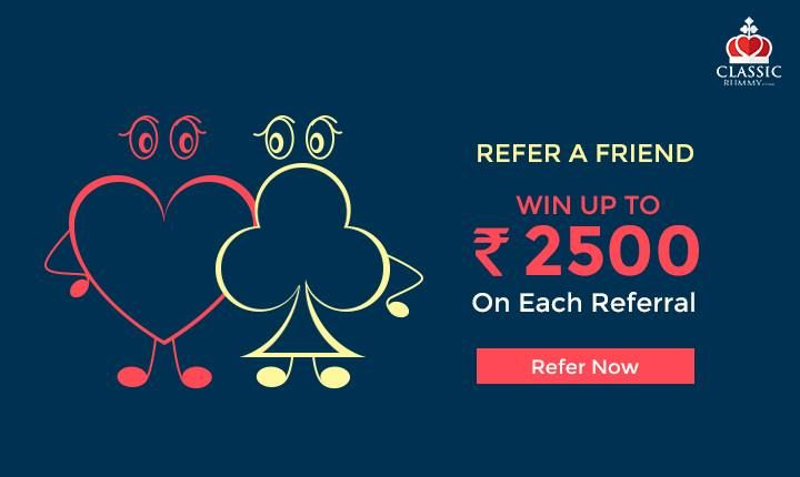 Refer & Get Rewarded. For every referrer you got Rs. 2500/-. #rummy #card #games #online #mobile