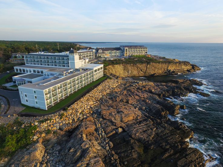 The Cliff House is perched on a cliff in Cape Neddick, Maine.