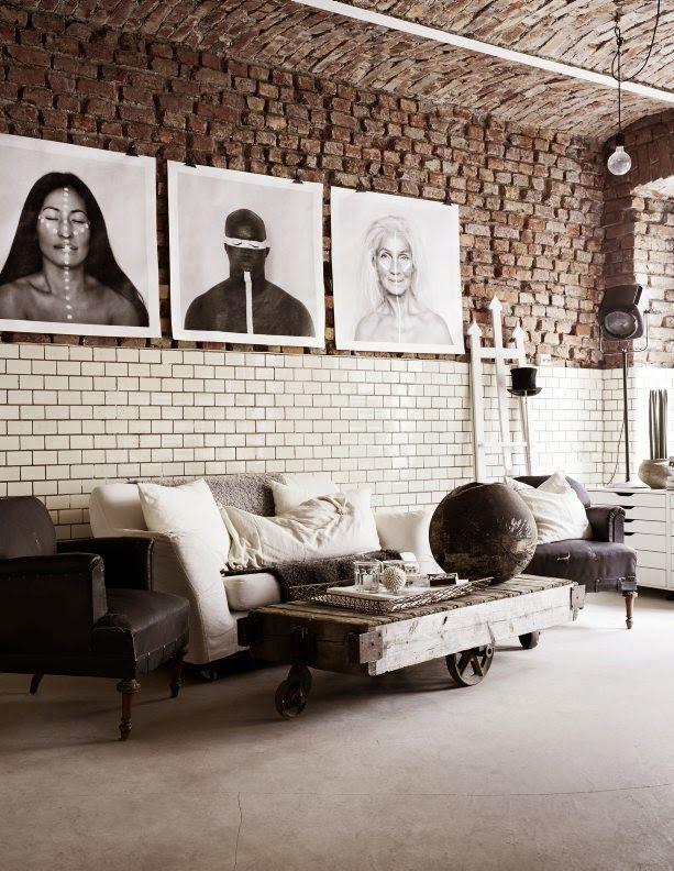 The fab industrial style atelier of Sara Bergman. Kristofer Johnsson. Residence.