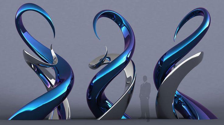 Las esculturas abstractas de Mike Fields. @alvarodabril