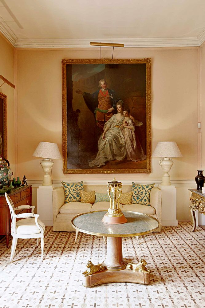 The Drawing Room At Grove Home Of Late David Hicks Where His Wife