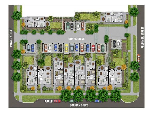 Real Estate Floor Plans Full Color Overalls created by Pavel Vrzala.  Ground Floor