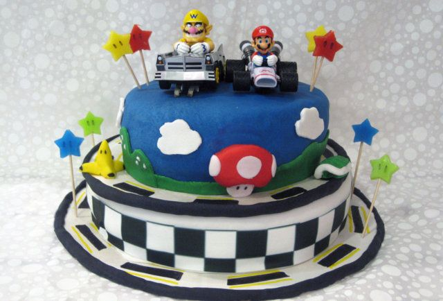 Mario Kart cake-10 old-school video game cakes that'll make you want to eat your controller