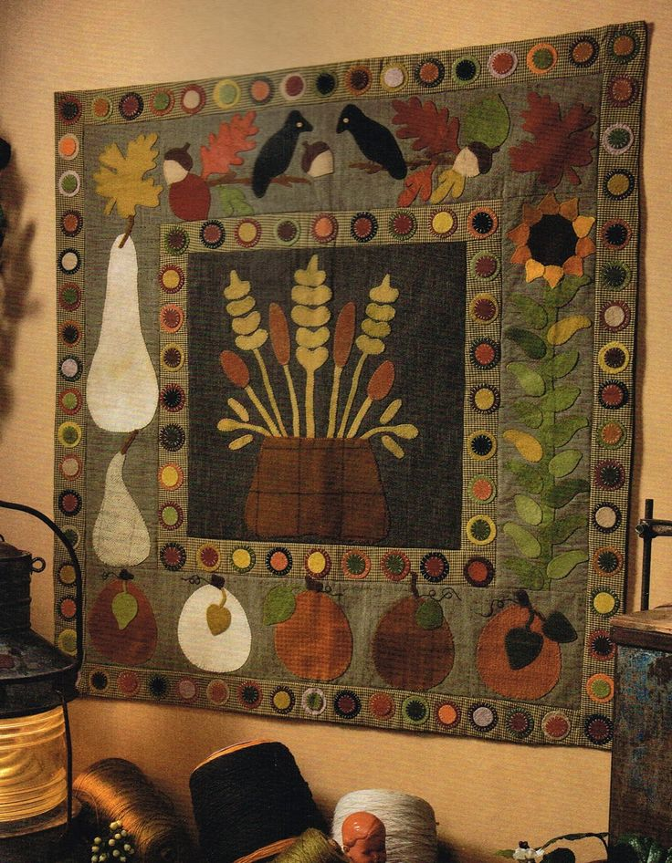120 best Seasonal Quilts images on Pinterest | Halloween quilts ... : primitive quilting - Adamdwight.com