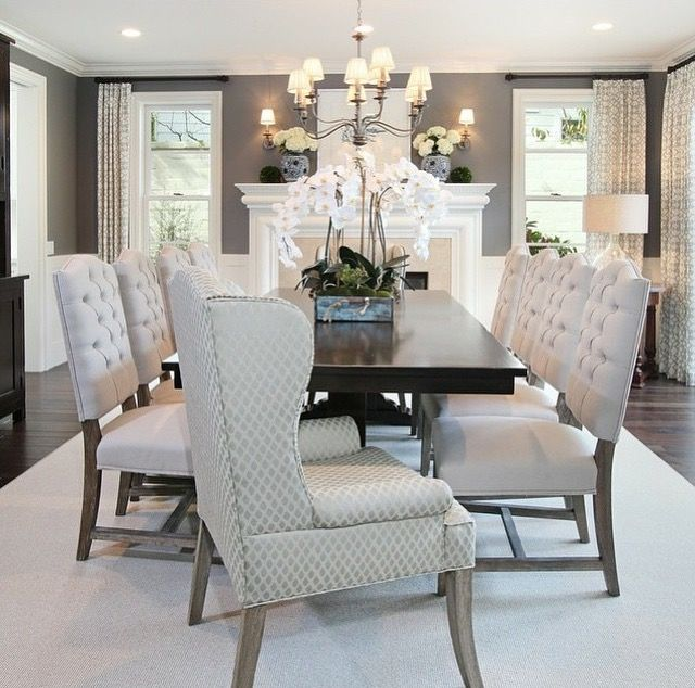 Contemporary Dining Room In Restoration Hardware Charcoal.