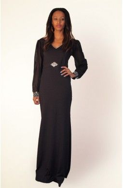 V Neck Long Sleeve Evening Dress - $125 - Free shipping all over Australia