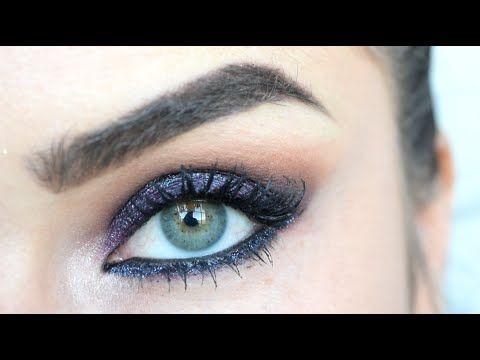Trucco senza Eyeliner - Smokey Blu per Occhi Marroni - YouTube