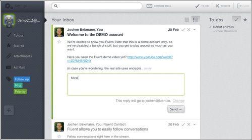 Interesante aplicación web para email