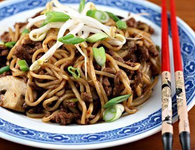 Nouilles chinoise aux côtelettes de porc